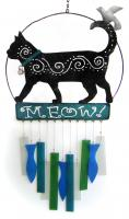 Blue HandWorks Kittie Meow Wind Chime