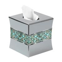 Nu Steel Sea Foam Mosaic Boutique Tissue