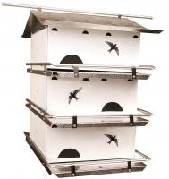 Bird's Choice Assembled Waters Edge Purple Martin House,  3 Floor, 6 Room Suites