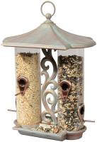 Whitehall Twin Tube Bird Feeder - Copper Verdi