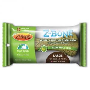 Zukes Z-bone Dental Bone - Apple, Lg