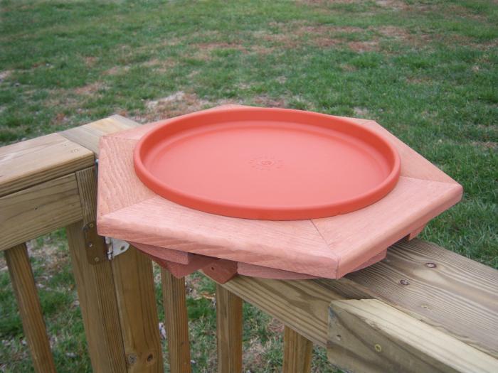 Songbird Essentials Cedar NON Heated BirdBath Deck Mount