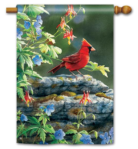 Magnet Works Cardinal Perch Standard Flag