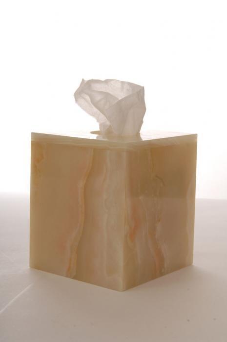 Imperial Bath Jade Green Onyx Tissue Box
