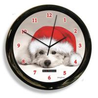 California Clock Black And White Dog Clock (41615)