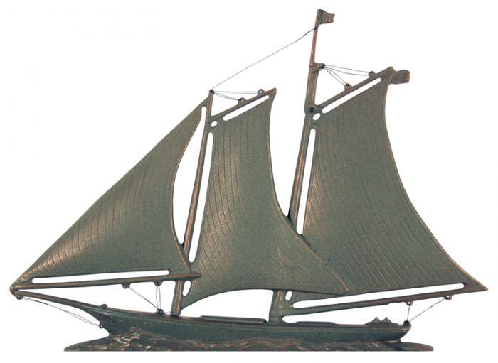 "46"" Yacht Weathervane - Verdigris"