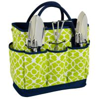 Picnic at Ascot Gardening Tote with Tools - Trellis Green