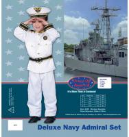 Dress Up America Deluxe Navy Admiral Set - Small 4-6