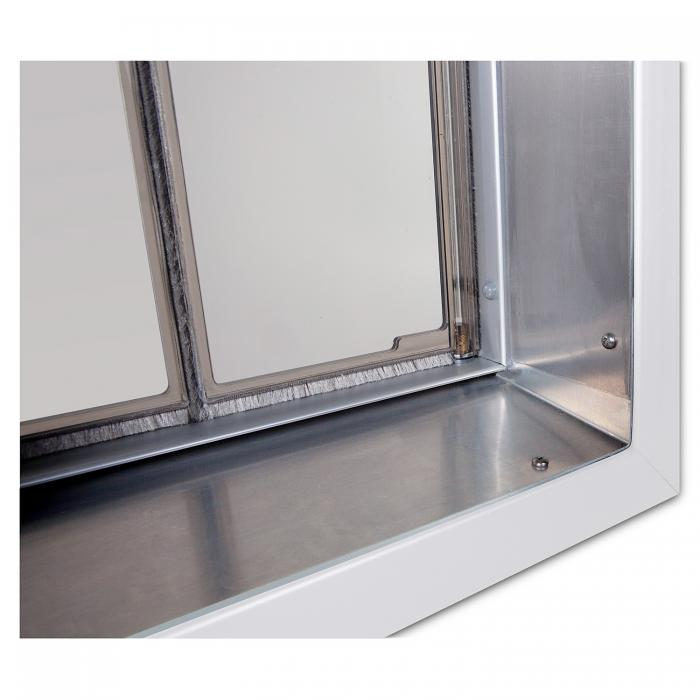 PlexiDor X-Large Exterior Wall Unit Performance Pet Door, White