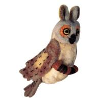 DZI Handmade Designs Great Horned Owl Woolie Ornament