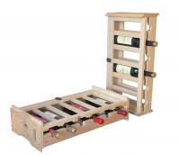Merry Products Stacking Wooden Wine Organizer
