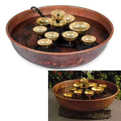 Water Bell Fountain - Copper Bowl