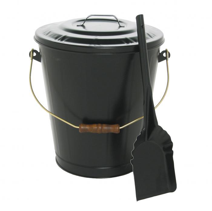 Imperial Manufacturing Ash Container & Shovel Set - Black