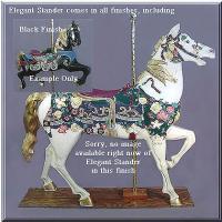 Elegant Stander Black Carousel Horse