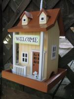 Home Bazaar Welcome Home Bird Feeder - Yellow