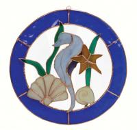 Gift Essentials Large Seahorse Circle Window Panel