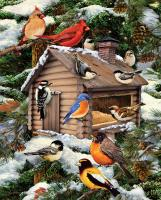 White Mountain Puzzles Log Cabin Birdhouse