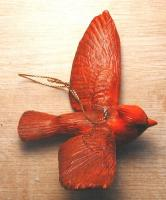 Songbird Essentials Flying Cardinal Ornament