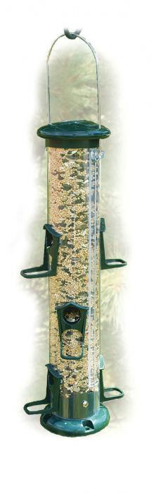 "Woodlink Audubon Series 15"" Green Plastic 6 Port Seed Tube Bird Feeder"