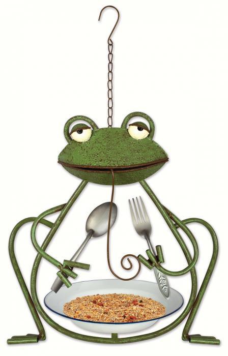 Sunset Vista Designs Frog Bird Feeder
