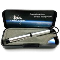 Fisher Space Pens Backpacker Pen, Colored Aluminum w/Key Chain, Silver