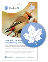 Window Alert Maple Leaf (4 per package)