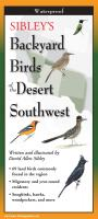 Steven M. Lewers & Associates Sibley's Backyard Birds of the Desert Southwest