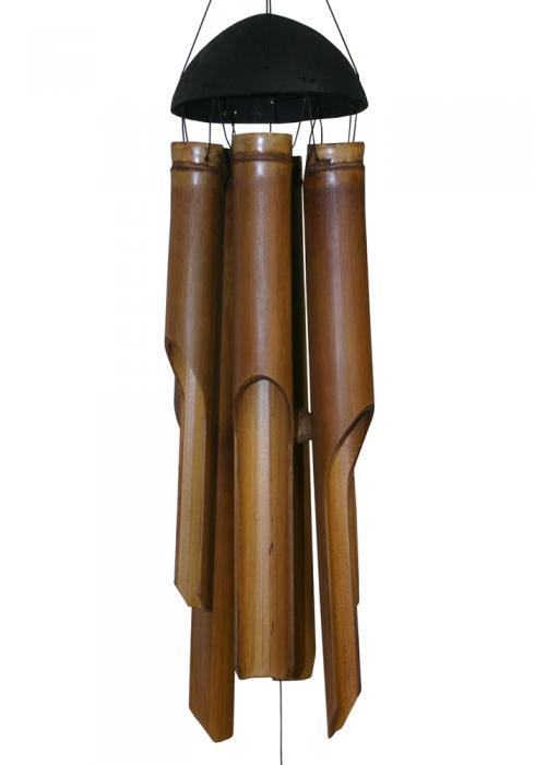 Cohasset Imports Medium Plain Antique Bamboo Windchime