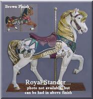 Royal Stander Brown Carousel Horse