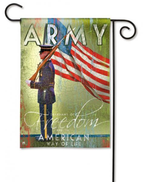 Magnet Works Army Garden Flag