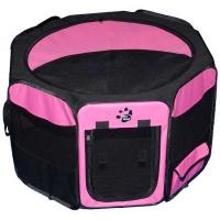 """Pet Gear Travel Lite Soft-Sided Pet Pen with Removable Top Pink 36"""" x 36"""" x 23"""""""