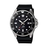 Casio Analog Sports Dive Watch Black Resin Band
