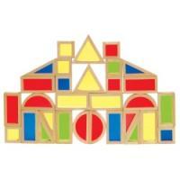 Guidecraft Rainbow Blocks Set - 30 Pcs