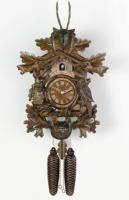 "River City 20"" Hunter's Clock, Live Animals Cuckoo Clock"