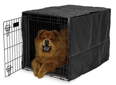 "Mid-West Quiet Time Black Pet Crate Cover, 36"""