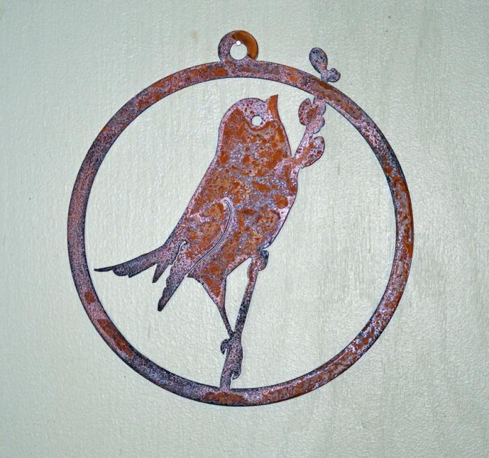 Elegant Garden Design Bird on Willow Window Ornament