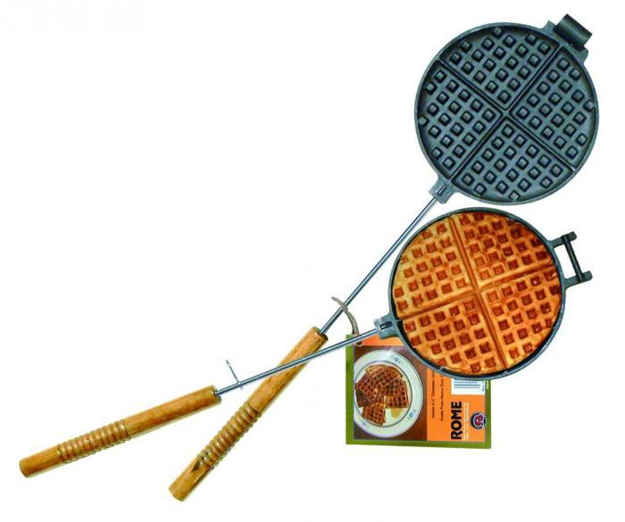 """Waffle Iron - Cast Iron - 23"""" Length"""