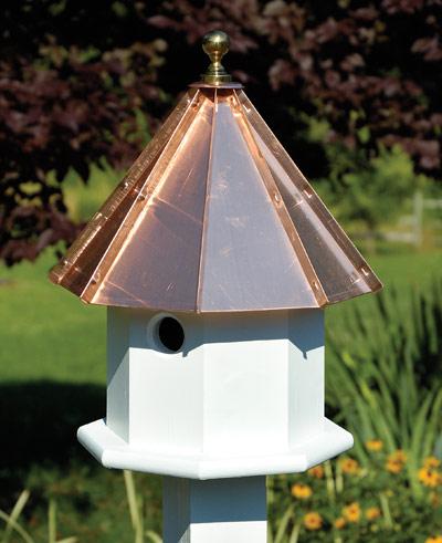 Heartwood Oct Avian Birdhouse, Bright Copper Roof