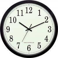 "La Crosse Technology 14"" Plastic Black Atomic Analog Wall Clock"