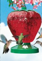 Perky Pet 48 Ounce Strawberry Hummingbird Bird Feeder
