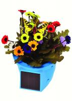 Russco III Solar Pals Flapping Patio Pot (Blue Pot w/Yellow Butterfly)