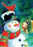 Toland Reflection Snowman Garden Flag