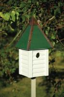 Heartwood Gatehouse Birdhouse, Whitewashed