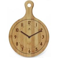 Infinity Instruments Chef Collection Butcher Block Wall Clock, Bon Appetit!