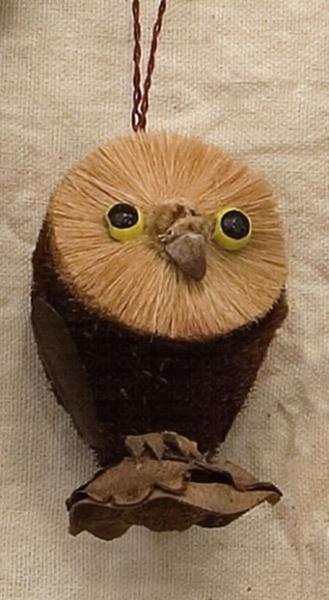 Brushart Owl Ornament
