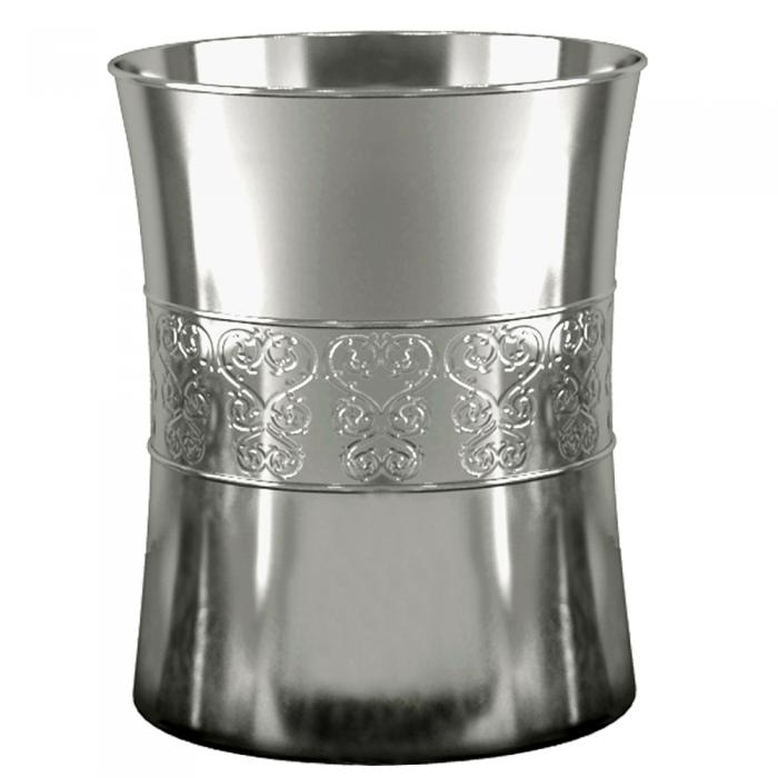 Nu Steel Mercury Glass Wastebasket