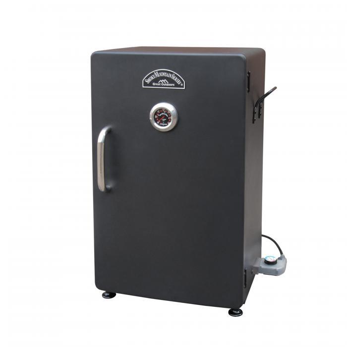 "Landmann Smoky Mountain 26"" Vertical Electric Smoker, Black-Solid Door"