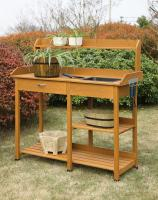 Convenience Concepts  Deluxe Potting Bench (Light Oak)