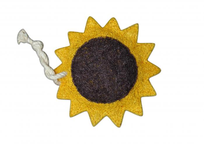 Loofah Art Sunflower
