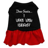 Went With Naughty Dog Dress - Black with Red/XXX Large